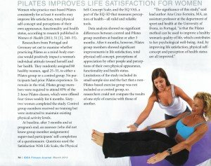 Pilates Improves life Satisfaction for Women